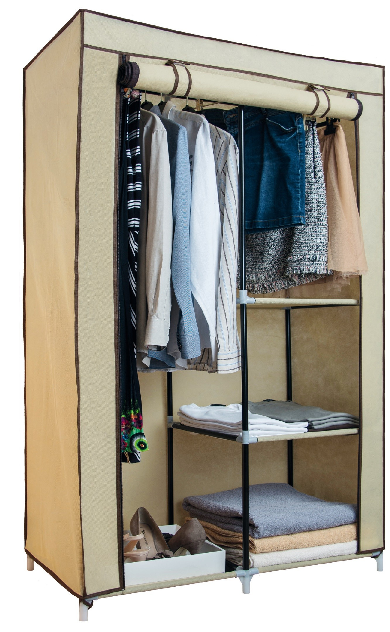 Textil-Kleiderschrank - all4house.de