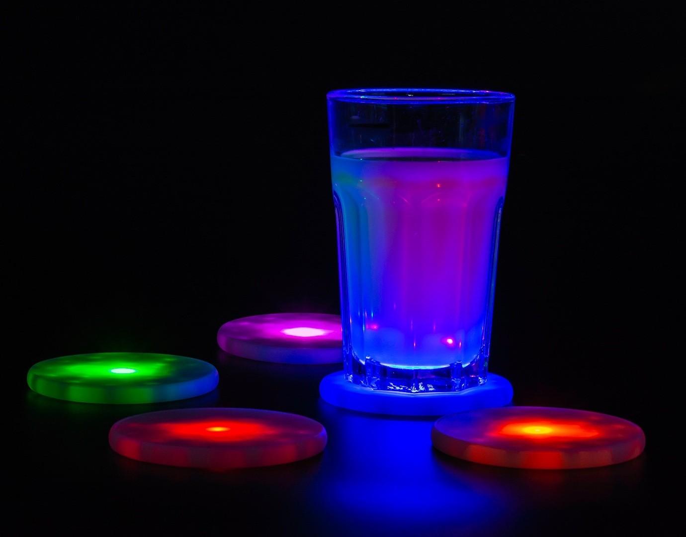 5er Set LED-Untersetzer