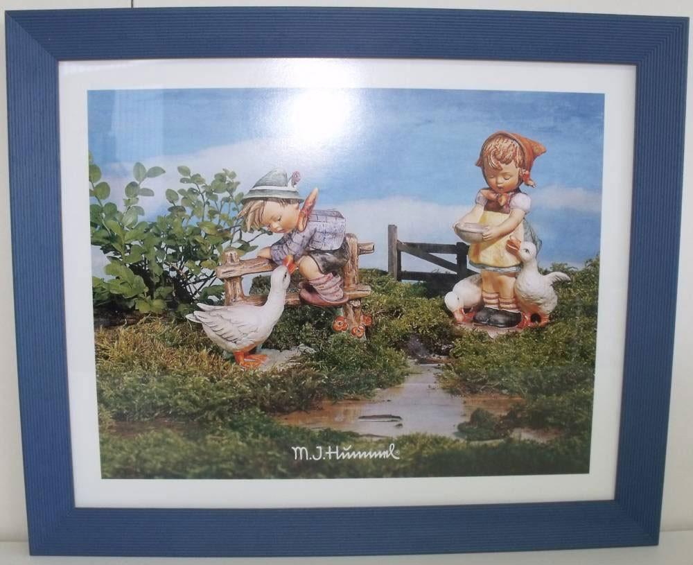 Hummel gerahmtes Bild drei Gänse