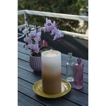 LED Kerze mit Springbrunnen, braun inkl. Batterien
