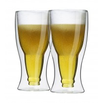 2er Set doppelwandige Thermo-Biergläser