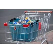 Einkaufswagentasche, türkis
