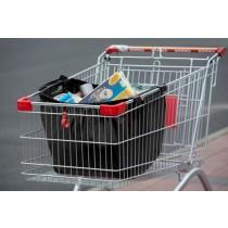 Einkaufswagentasche, schwarz