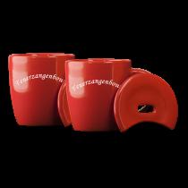2er Set Feuerzangenbowle Tassen, rot