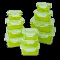 22-teiliges Frischhaltedosen Set, grün