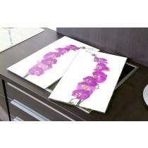 Herdabdeckplatten Orchideen