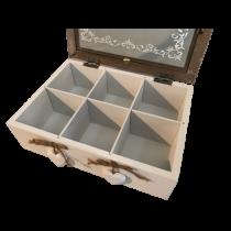 Teebox, Größe ca. 23 x 17 x 7 cm