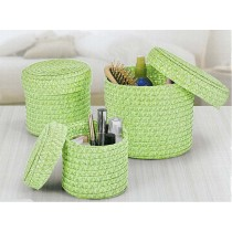 3-tlg. Korb-Set, grün