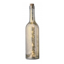 Glasflasche mit LED-Beleuchtung, sparkle-gold