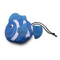 """faltbare Mehrwegtasche """"blauer Fisch"""""""