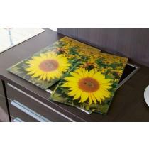 Herdabdeckplatten Sonnenblumen