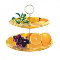 Glas-Etagere orange