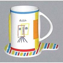 """Tasse """"Picasso"""", 2er Set bunt"""