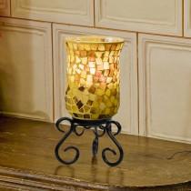 Mosaik-Leuchter gelb
