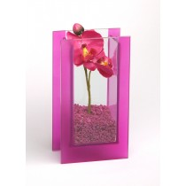 "Glas-Vase ""Orchideen"" pink"