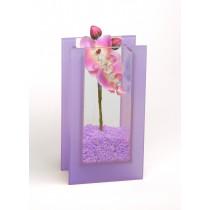 """Glas-Vase """"Orchideen"""" violett"""