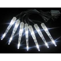LED-Eiszapfenlichterkette kaltweiß