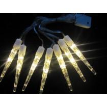 LED-Eiszapfenlichterkette warmweiß