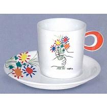 "Tasse ""Picasso Blumen"" bunt, 4er Set"