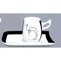 """""""Picasso"""" schwarz/weiß, 4-tlg. Set"""