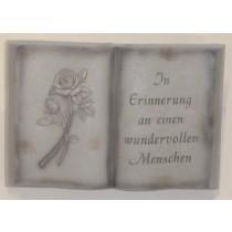 """Grabdekoration Buch """"In Erinnerung"""""""