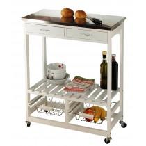 Küchenrollwagen-weiß