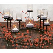 Metall-Kerzenhalter mit Deko
