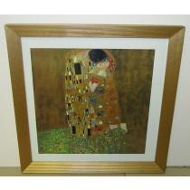 Gustav Klimt Kunstdruck im Echtholzrahmen