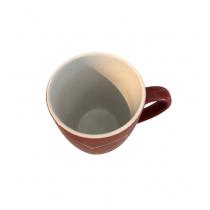 rote Tasse mit Aufschrift