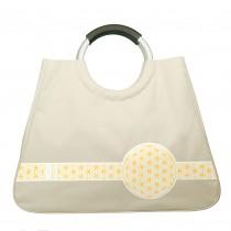 Shoppertasche, beige (Blume des Lebens)