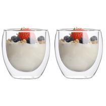 2er Set doppelwandige Gläser/Thermoglas, Borosilikatglas, 250 ml
