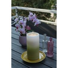 LED Kerze mit Springbrunnen, grün inkl. Batterien