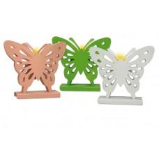 """3er Set Teelichthalter """"Schmetterlinge"""""""