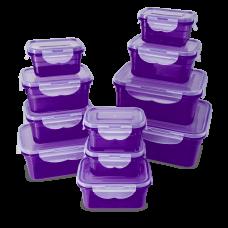 22-teiliges Frischhaltedosen Set, lila