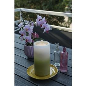 LED Kerze mit Springbrunnen, grün