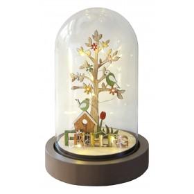 LED- Glasdeko 4- Jahreszeiten aus FSC®-zertifiziertem Holz