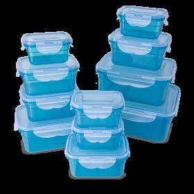 22-teiliges Frischhaltedosen Set, blau