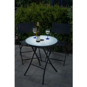 Gartentisch mit LED-Beleuchtung