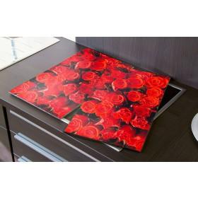Herdabdeckplatten Rosen