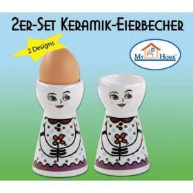 Keramik Eierbecher Fräulein 2er Set