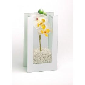 Glas-Vase Orchideen weiß