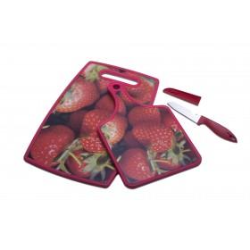 "Schneidbrett ""Erdbeere, 3tlg. Set"