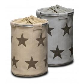 Wäschekorb Sterne, grau
