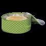 Kühltasche für Torten, grün gepunktet